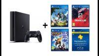 Sony PS4 500gb slim, 3 игры + ваучер ps plus 3 месяца